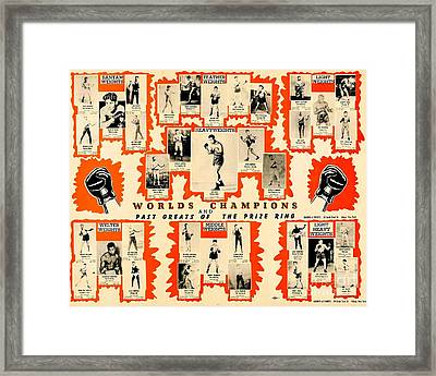 1947 World Champions And Past Greats Of The Prize Ring Framed Print