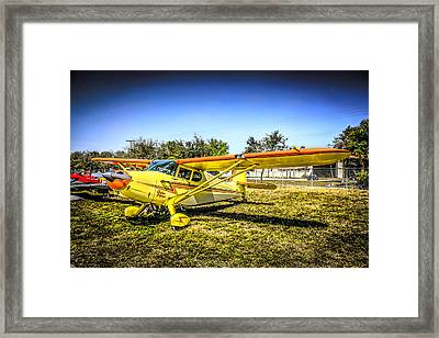 1947 Yellow Stinson Framed Print