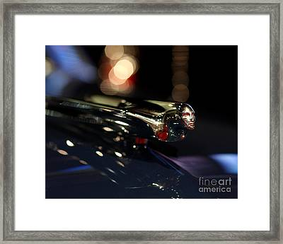 1948 Cadillac Coupe Hood Ornament Framed Print by Wingsdomain Art and Photography