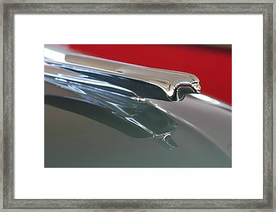 1948 Cadillac Series 62 Hood Ornament Framed Print by Jill Reger