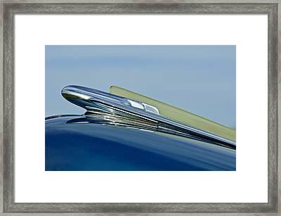 1948 Chevrolet Fleetline Hood Ornament Framed Print
