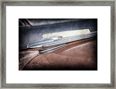 Framed Print featuring the photograph 1948 Chevrolet Hood Ornament -0587ac by Jill Reger