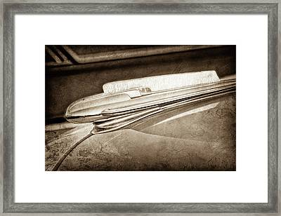 Framed Print featuring the photograph 1948 Chevrolet Hood Ornament -0587s by Jill Reger