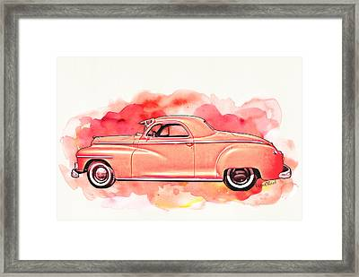 1948 Dodge Coupe As Seen In Luckenbach Texas By Vivachas Framed Print