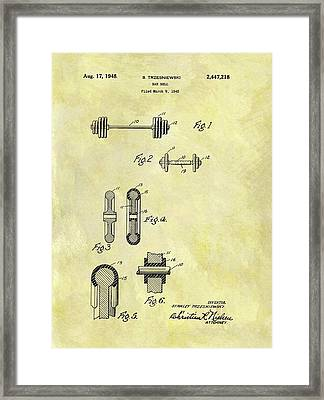 1948 Dumbbell Patent Framed Print by Dan Sproul