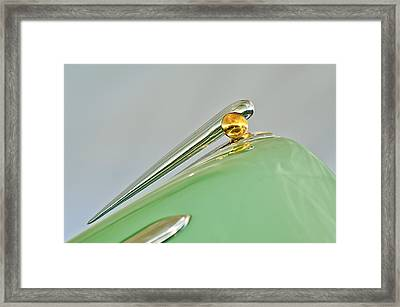 1948 Lincoln Continental Hood Ornament 4 Framed Print by Jill Reger