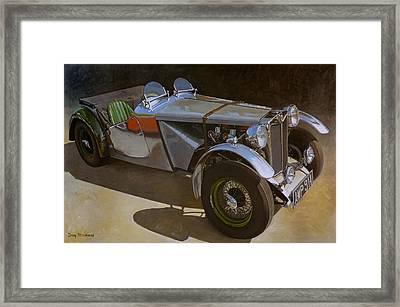 1948 M G  Racer Framed Print by Doug Strickland