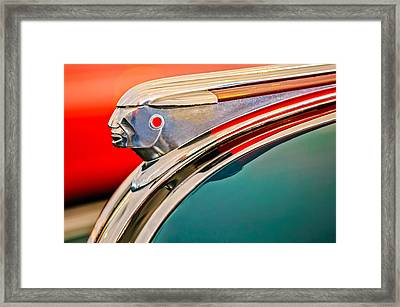 1948 Pontiac Chief Hood Ornament Framed Print by Jill Reger