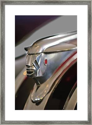 1948 Pontiac Streamliner Woody Wagon Hood Ornament 2 Framed Print by Jill Reger