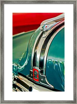 1948 Pontiac Streamliner Woody Wagon Hood Ornament Framed Print by Jill Reger