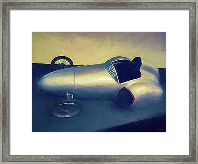1948 Rocket Car Framed Print by Tony Grider