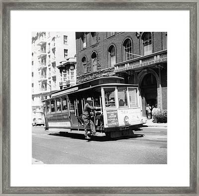 1948 San Francisco Cable Car 513 Framed Print