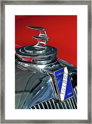 1948 Talbot-lago T26 Record Cabriolet Hood Ornament Framed Print by Jill Reger