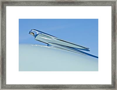 1949 Cadillac Fastback Hood Ornament Framed Print by Jill Reger