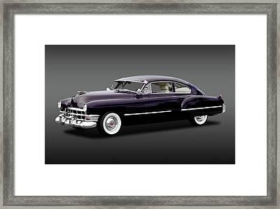 Framed Print featuring the photograph 1949 Cadillac Two Door Sedan  -  1949caddy2doorsedanfa172173 by Frank J Benz