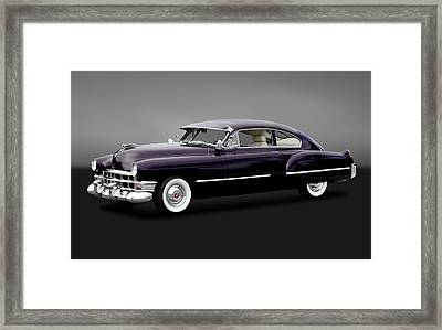 Framed Print featuring the photograph 1949 Cadillac Two Door Sedan  -  1949caddy2drsedangry172173 by Frank J Benz