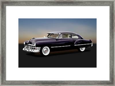 Framed Print featuring the photograph 1949 Cadillac Two Door Sedan  -  1949cadillacsedan172173 by Frank J Benz