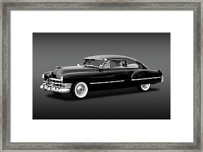 Framed Print featuring the photograph 1949 Cadillac Two Door Sedan  -  49cadillacsedanbw172173 by Frank J Benz