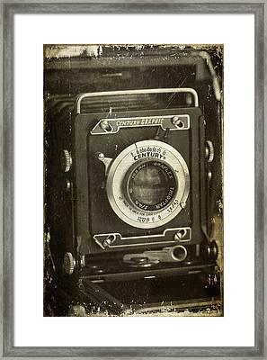 1949 Century Graphic Vintage Camera Framed Print