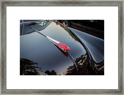 1949 Chevrolet Coupe Hood Ornament  Framed Print by Rich Franco