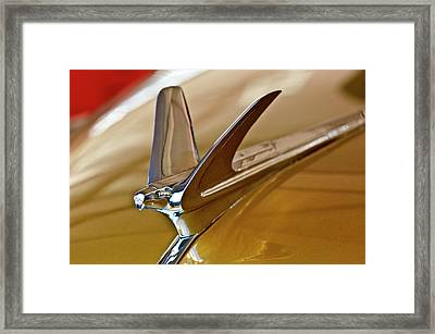 1949 Chevrolet Fleetline Hood Ornament Framed Print