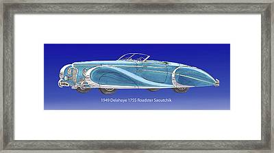 1949 Delahaye 175 S Saoutchik Roadster Framed Print by Jack Pumphrey