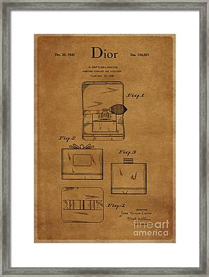 1949 Dior Atomizer And Container Design 1 Framed Print
