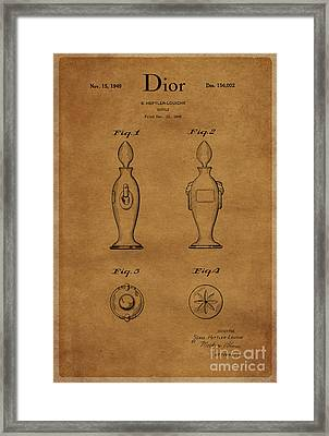 1949 Dior Perfume Bottle Design 1 Framed Print by Nishanth Gopinathan