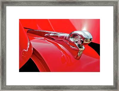 1949 Dodge Truck Hood Ornament Framed Print