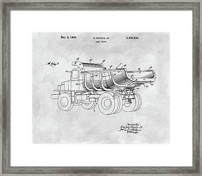 1949 Dump Truck Framed Print