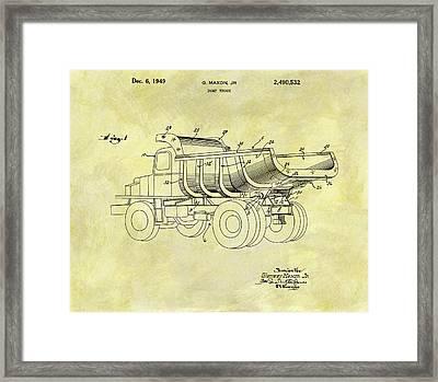 1949 Dump Truck Patent Design Framed Print