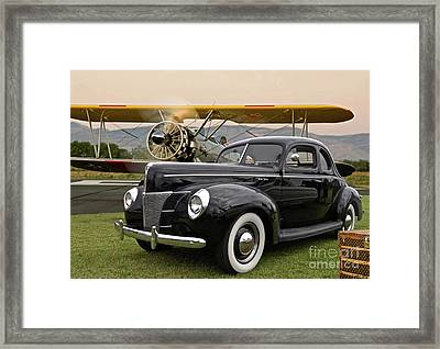 1949 Ford Coupe, Boeing - Stearman Biplane, The Most Interesting Man In The World ' Opening Scene  Framed Print by Thomas Pollart