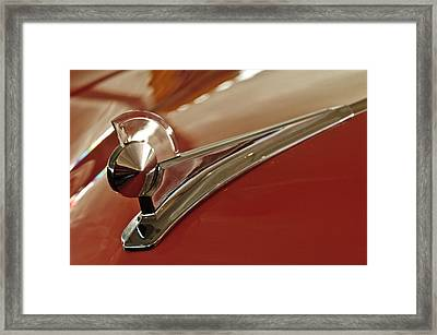 1949 Ford Custom Hood Ornament Framed Print by Jill Reger