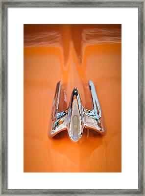 1949 Lincoln Coupe Hood Ornament Framed Print by Jill Reger