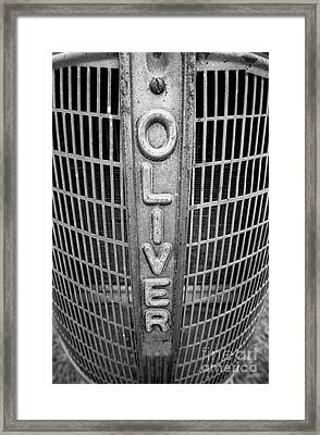 1949 Oliver Tractor Grill Framed Print by Patrick M Lynch