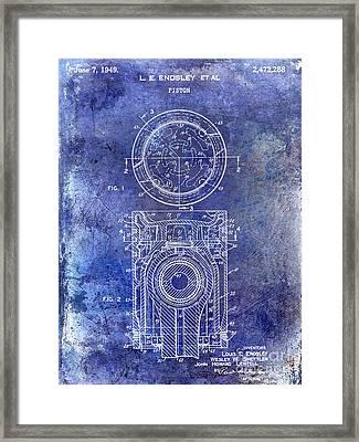 1949 Piston Patent Blue Framed Print by Jon Neidert