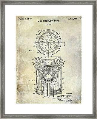1949 Piston Patent Framed Print by Jon Neidert