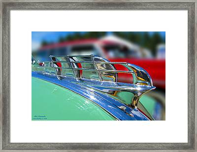 1949 Plymouth Hood Ornament Framed Print by Larry Keahey