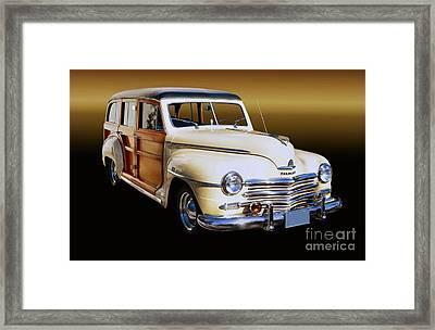 1949 Plymouth Woodie Wagon Framed Print by Thomas Burtney