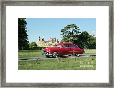 Framed Print featuring the photograph 1949 Pontiac At Blenheim Palace by Tim Gainey