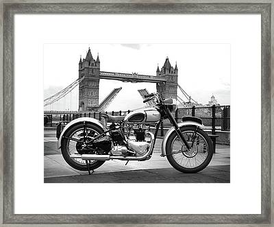 1949 Triumph T100 Framed Print
