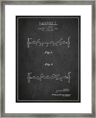 1950 Barbell Patent Spbb04_cg Framed Print by Aged Pixel
