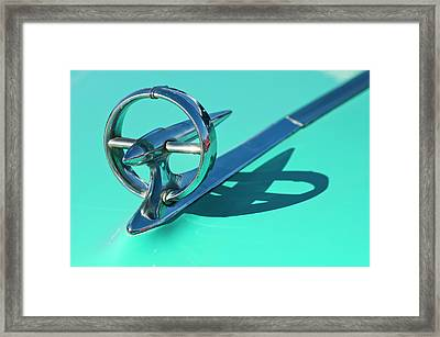 1950 Buick Hood Ornament Framed Print by Jill Reger