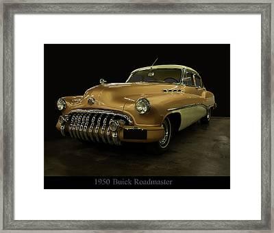 1950 Buick Roadmaster Framed Print