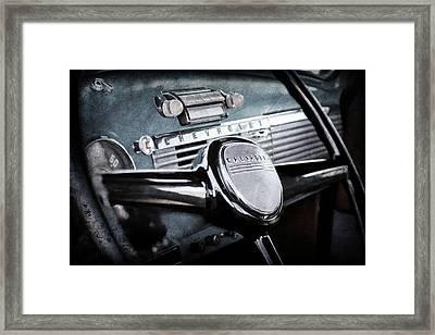 1950 Chevrolet 3100 Pickup Truck Steering Wheel -0142ac Framed Print