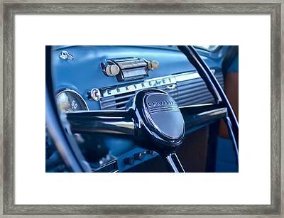 1950 Chevrolet 3100 Pickup Truck Steering Wheel Framed Print