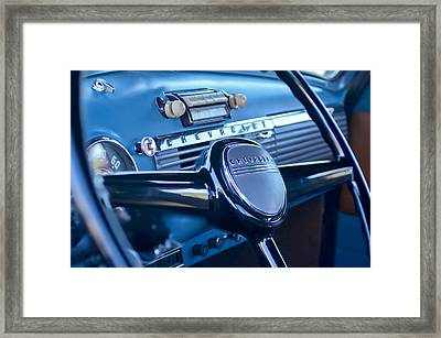 1950 Chevrolet 3100 Pickup Truck Steering Wheel Framed Print by Jill Reger