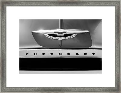 1950 Chevrolet Fleetline Grille Emblem -1431bw Framed Print by Jill Reger