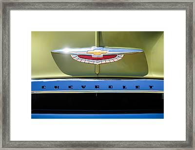 1950 Chevrolet Fleetline Grille Emblem -1431c Framed Print by Jill Reger