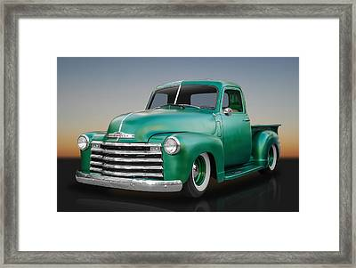 1950 Chevy Pickup Truck Framed Print